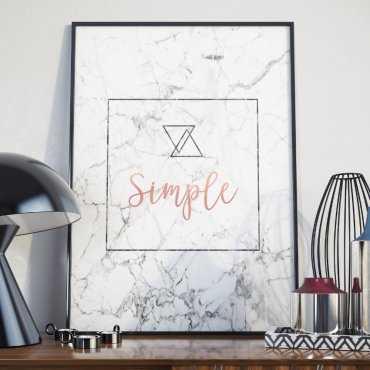 Plakat w ramie - Simple Marble