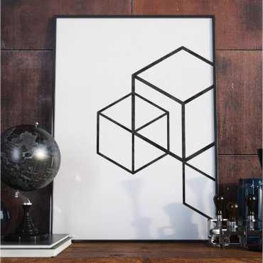 Plakat w ramie - Minimalist Cubes