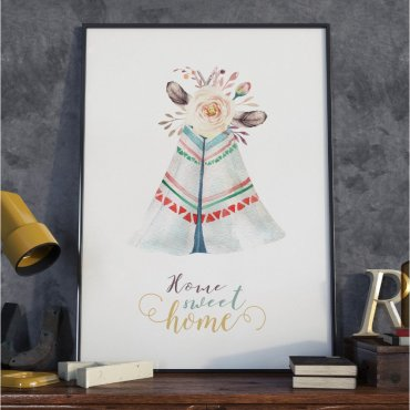 Plakat w ramie - Boho Home