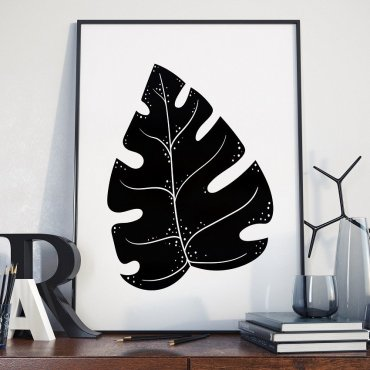 Plakat w ramie - Black Monstera