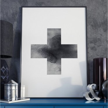 Plakat w ramie - Simple Cross