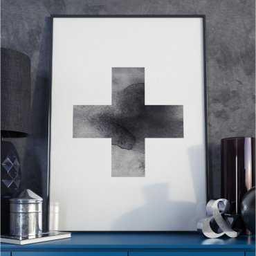 Plakat w ramie - Simple Cross