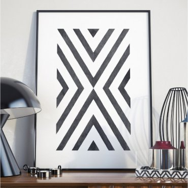 Plakat w ramie - Geometric Destination