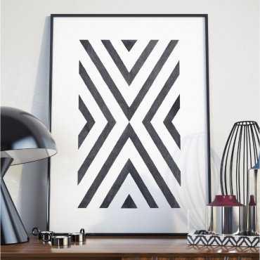 Plakat w ramie - Geometric Destination