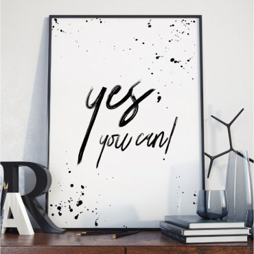 Plakat w ramie - Yes You Can