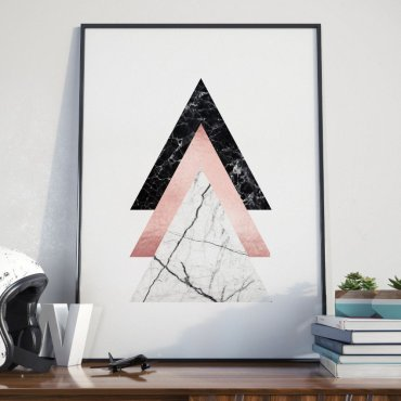 Plakat w ramie - Triple Triangle