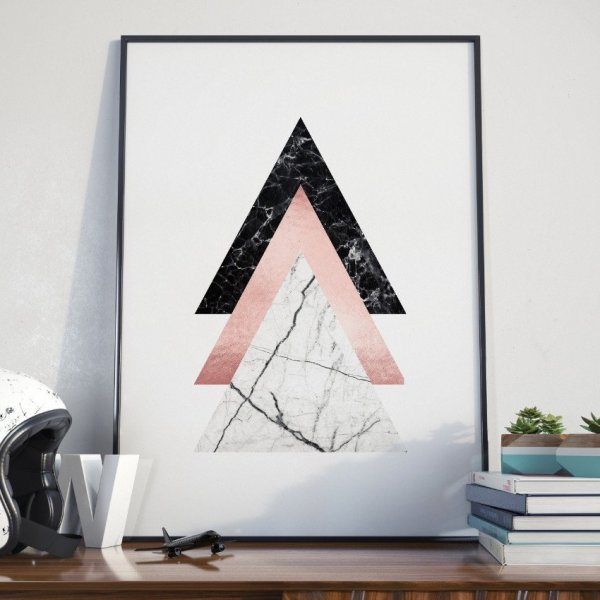 Plakat w ramie - Triple Triangle