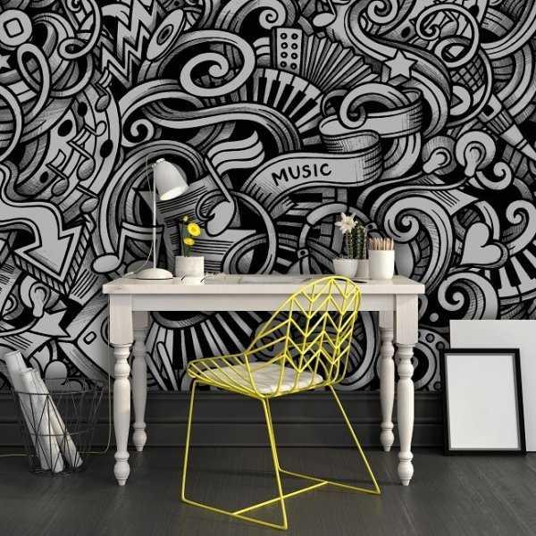 Muzyczna abstrakcja - Tapeta designerska