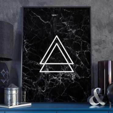 Plakat w ramie - Triangular Blackie