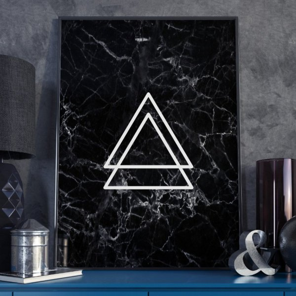 Plakat w ramie - Triangular Blackie