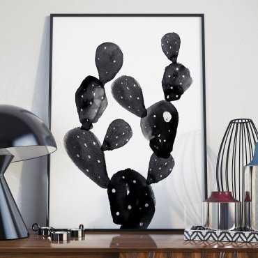 Plakat w ramie - Black Cactus