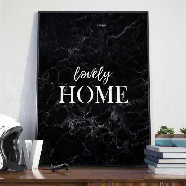 Plakat w ramie - Lovely Home