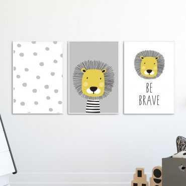 Zestaw plakatów dziecięcych - FRIEND LION