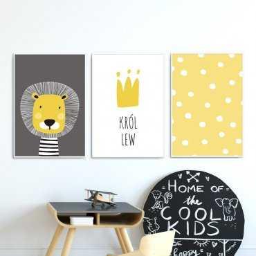 Zestaw plakatów dziecięcych - KRÓL LEW
