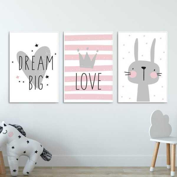 Zestaw plakatów dziecięcych - LOVELY RABBIT
