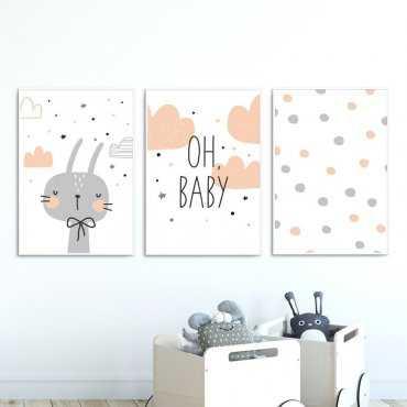 Zestaw plakatów dziecięcych - OH BABY
