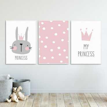 Zestaw plakatów dziecięcych - PRINCESS RABBIT