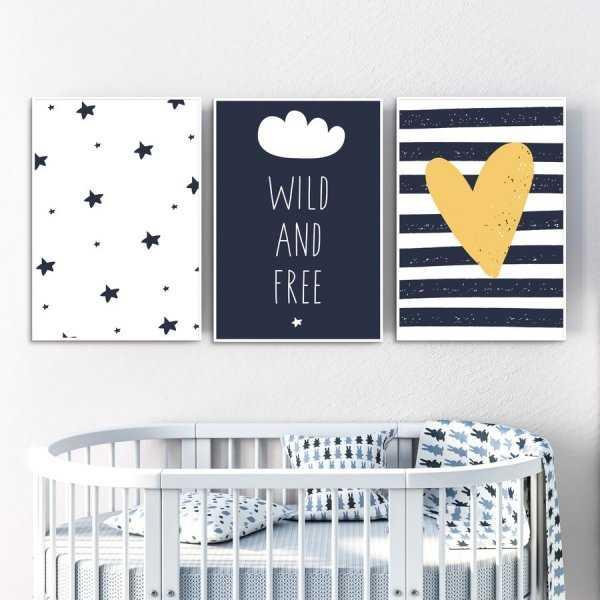 Zestaw plakatów dziecięcych - WILD AND FREE