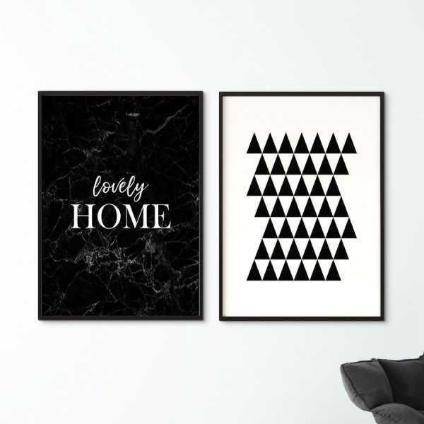 Zestaw dwóch plakatów - MODERN HOME