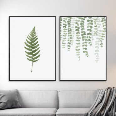 Zestaw dwóch plakatów - GREEN HOME