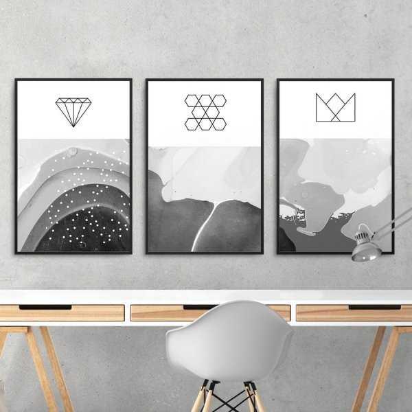 Zestaw trzech plakatów - OCEANIC GEOMETRY