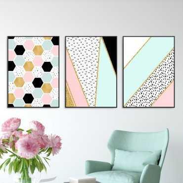 Zestaw trzech plakatów - MIX DESIGN