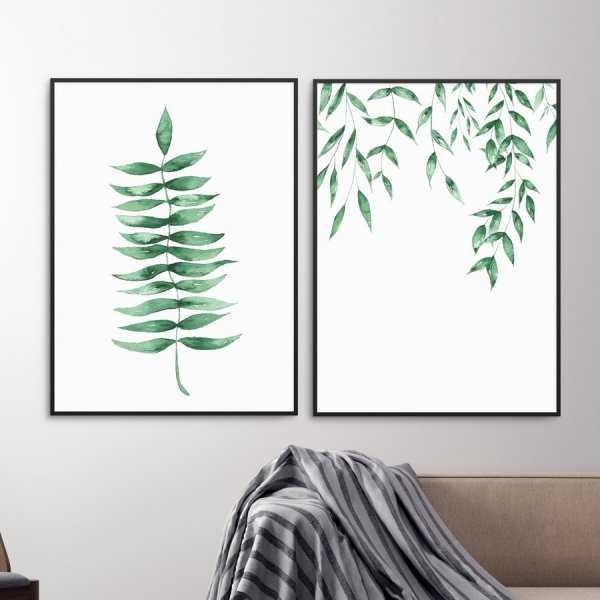 Zestaw dwóch plakatów - HERBAL DESIGN