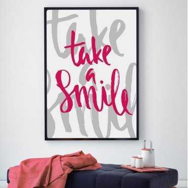 Take a smile - Plakat typograficzny