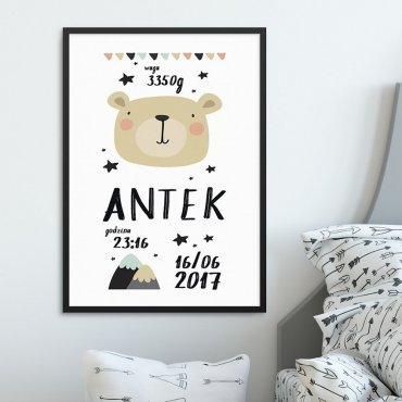 METRYCZKA DZIECIĘCA - ADVENTURE BEAR