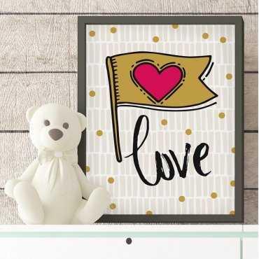 LOVE - Plakat designerski