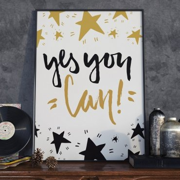 Yes you can! - Plakat motywacyjny