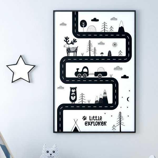 SCANDI ROAD - Plakat dla dzieci