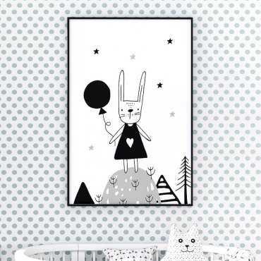 LOVELY RABBIT - Plakat dla dzieci
