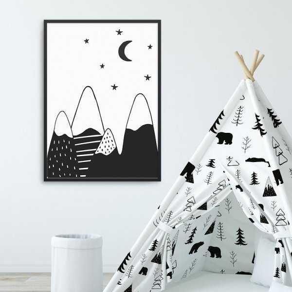 SCANDI MOUNTAINS - Plakat dla dzieci