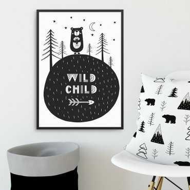 WILD CHILD - Plakat dla dzieci