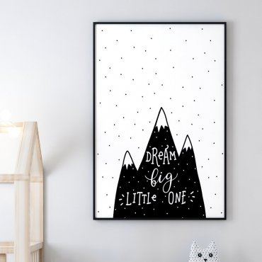 DREAM BIG MOUNTAINS - Plakat dla dzieci