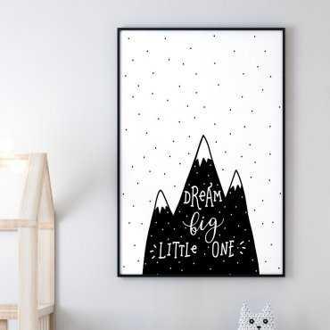 DREAM BIG MOUNTAINS - Plakat dla dzieci