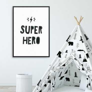 SUPER HERO - Plakat dla dzieci