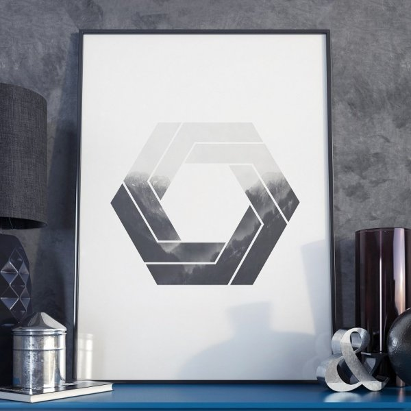 Plakat w ramie - Geometric Swirl
