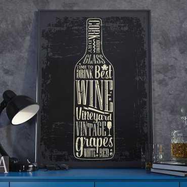 Plakat w ramie - Retro Wine