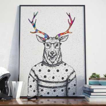 Plakat w ramie - Revolution Deer