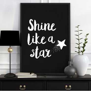 Shine like a star - Plakat typograficzny