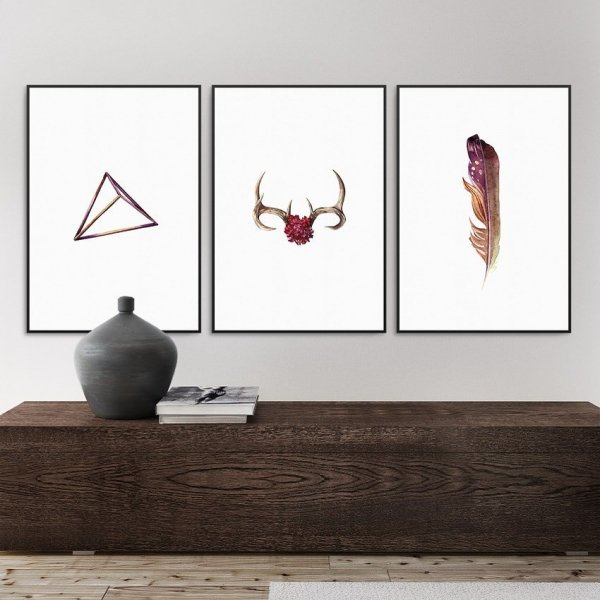 Zestaw trzech plakatów - Boho Design