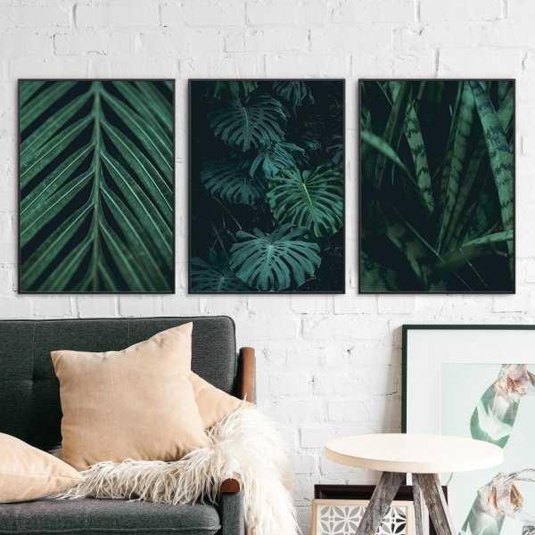 Zestaw trzech plakatów - Minimal Garden