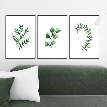 Zestaw trzech plakatów - Herbal Art