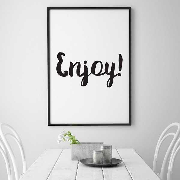 Enjoy! - Plakat typograficzny