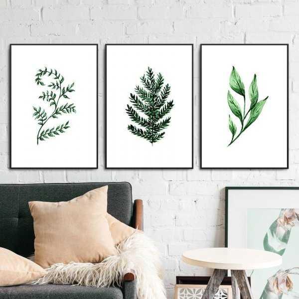 Zestaw trzech plakatów - Minimal Herbs