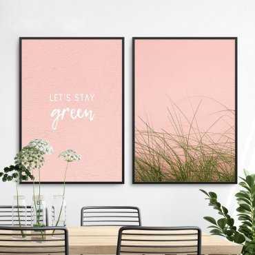 Zestaw dwóch plakatów - Let's Stay Green