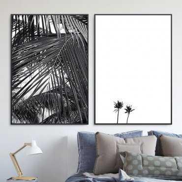 Zestaw dwóch plakatów - Tropical Minimalism