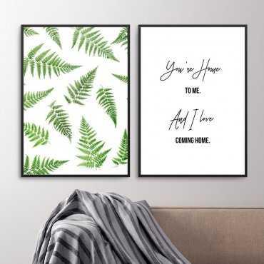 Zestaw dwóch plakatów - You're Home to me